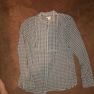 Jcrew checkered blouse